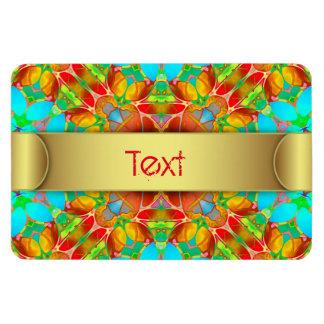 Erstklassiger Flexi Magnet-BlumenFraktal-Kunst Magnet