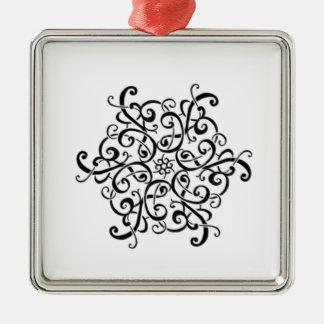 Erstklassiger quadratischer Verzierung-Schwarzer Silbernes Ornament