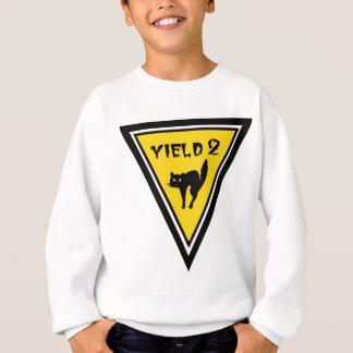 Ertrag-schwarze Katze Sweatshirt