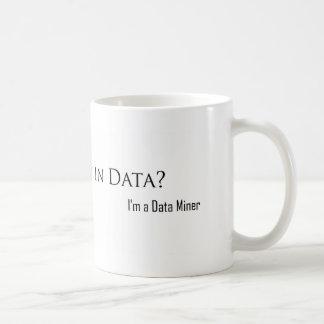 Ertrunken in den Daten? Kaffeetasse