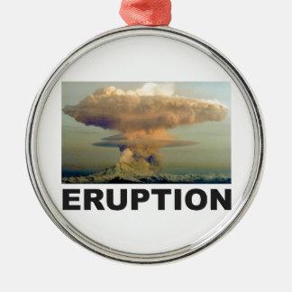 Eruptionskunst Silbernes Ornament