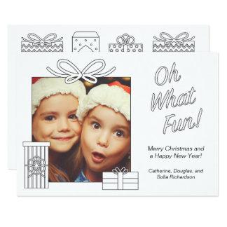 Erwachsene Farbton-Weihnachtsgeschenke Karte