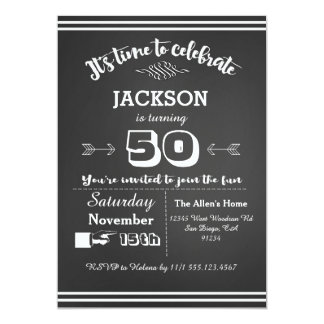 Erwachsene Geburtstags-Party Einladung 50., 60.,