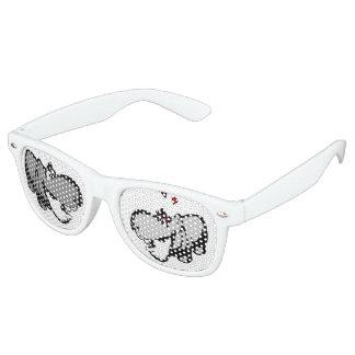 Erwachsene Retro Party-Schatten, Weiß - Flusspferd Partybrille