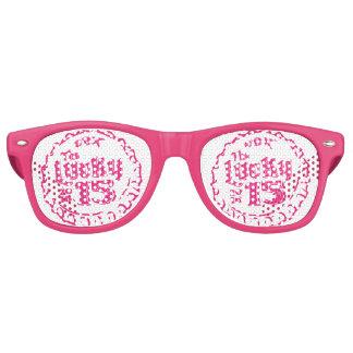 Erwachsene Retro Party-Schatten, weiß Retro Sonnenbrillen