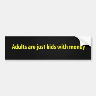 Erwachsene sind gerade Kinder mit Geld Autoaufkleber