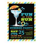Erwachsene Spaßsun-Cocktail-Sommer-Party Einladung