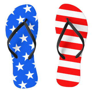 Erwachsener 4. amerikanischer Flagge Julis drehen Badesandalen