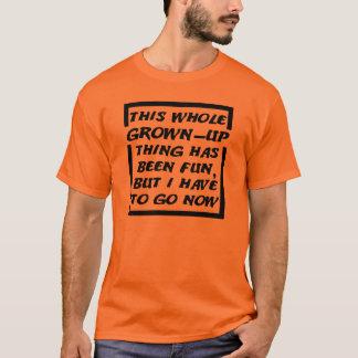 Erwachsener erhielt, lustiger zu gehen T - Shirt