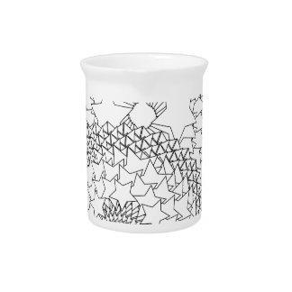 Erwachsener Farbton-geometrischer Entwurf Getränke Pitcher
