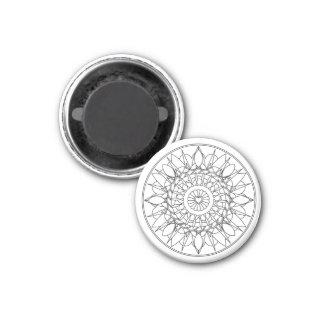Erwachsener Farbton-Mandala-Magnet Runder Magnet 3,2 Cm