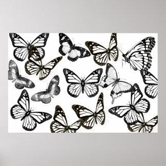 Erwachsener Farbton: Schmetterlings-Plakat Poster