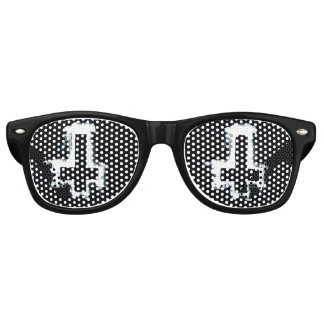 Erwachsener umgekehrtes Retro Schatten umgekehrtes Partybrille