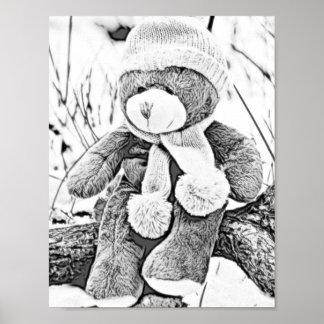 Erwachsenes Farbton-Teddybär-Plakat Poster