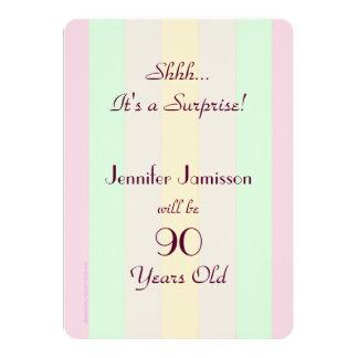 Erwachsenes gestreiftes ÜBERRASCHUNG PastellParty 12,7 X 17,8 Cm Einladungskarte