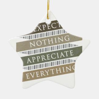 Erwarten Sie, dass nichts alles schätzen Keramik Stern-Ornament
