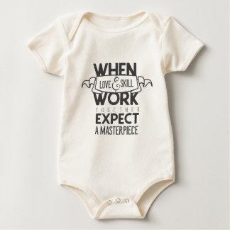 Erwarten Sie ein Meisterwerk Baby Strampler