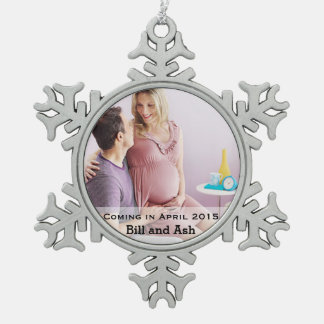 Erwartung der Paare Schneeflocken Zinn-Ornament