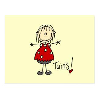 Erwartung der Zwillings-T-Shirts und der Geschenke Postkarten