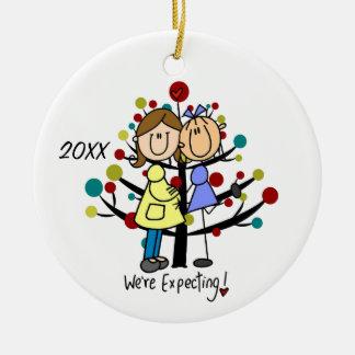 Erwartungsvolle Mamma-Feiertags-Verzierung der Keramik Ornament