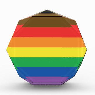 Erweiterte Gay Pride-Regenbogen-Flagge Acryl Auszeichnung