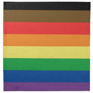 Erweiterte Gay Pride-Regenbogen-Flagge Serviette
