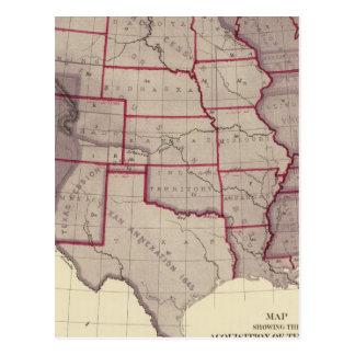 Erwerb von US-Gebieten Postkarte