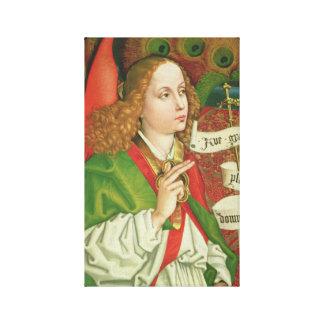 Erzengel-Gabriel-Ankündigung - Martin Schongauer Leinwanddruck