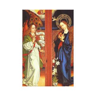 Erzengel Gabriel - Ankündigung - Schongauer Leinwanddruck