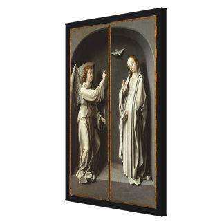 Erzengel Gabriel; Die Jungfrau kündigen an Leinwanddruck