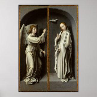 Erzengel Gabriel; Die Jungfrau kündigen an Poster