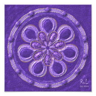 "Erzengel-Mandala""Raphael""als Fotodruck ca.30x30cm"