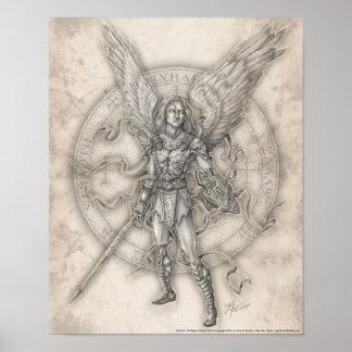 Erzengel-Michael-Druck Poster