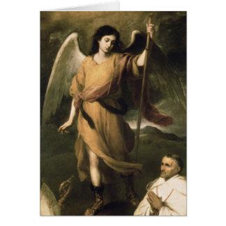 Erzengel-RAPHAEL mit Bischof Domonte Grußkarte