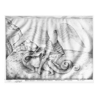 Erzengel St Michael, c.1450 Postkarte