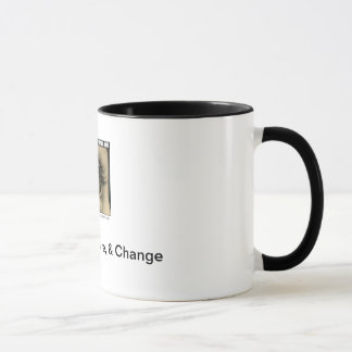 Erziehen Sie, inspirieren Sie u. ändern Sie Tasse