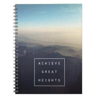 Erzielen Sie große Höhen-gewundenes Notizbuch Spiral Notizblock