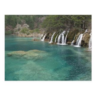 Erzlagerstätten machen Wasserfälle und freien Raum Postkarte