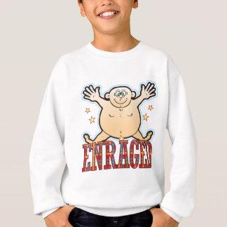 Erzürnter fetter Mann Sweatshirt