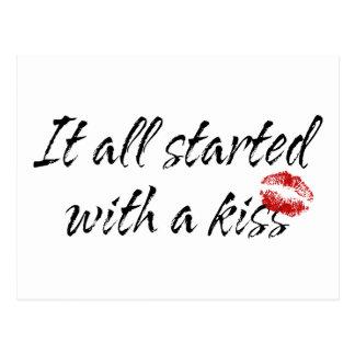 Es begann ganz mit einer Kuss-Mutterschaft Postkarte