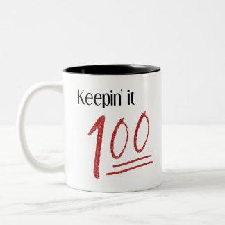 Es behalten Tasse 100