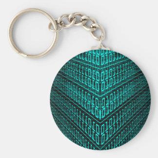 ES binärer Code des High-Techen Computers des Schlüsselanhänger