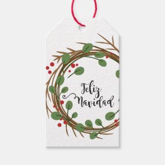 Es etikettiert Karte krönt frohes Weihnachten Geschenkanhänger