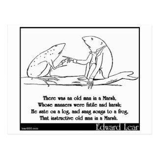 Es gab einen alten Mann in einem Sumpf Postkarte