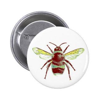 Es gelassen Bienen-Button Runder Button 5,7 Cm