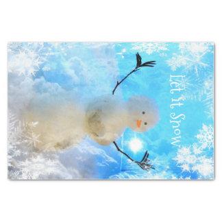 Es gelassen Schnee-Man Seidenpapier Seidenpapier