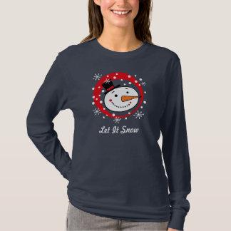 Es gelassen Snowman-Gewohnheits-T-Stück T-Shirt