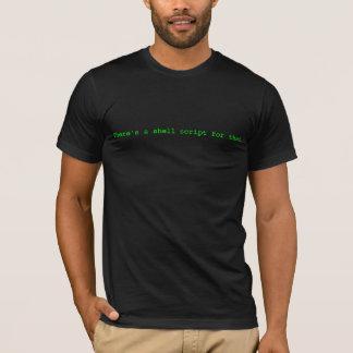 Es gibt ein Muschelskript für das T-Shirt