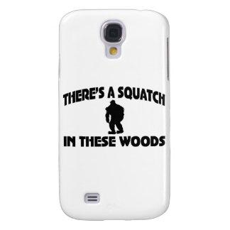 Es gibt ein Squatch in diesem Holz Galaxy S4 Hülle