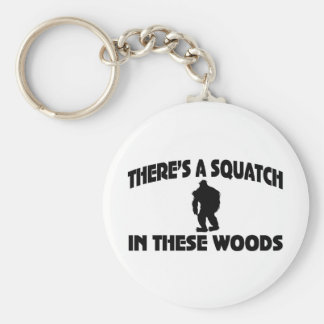 Es gibt ein Squatch in diesem Holz Schlüsselbänder